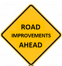 Road Improvements Ahead Sign