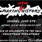 Making New History March and Rally flyer