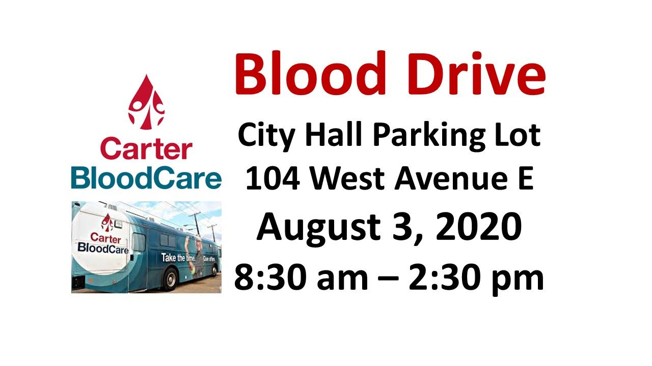 Carter BloodCare Mobile blood drive information