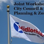 Joint Workshop Council PZ - City flag against blue sky