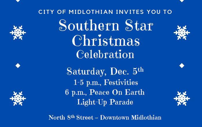 Southern Star Christmas Celebration announcement graphic