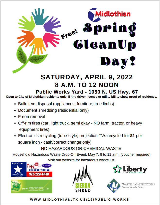 2021 SPRING CLEAN UP DAY FLYER