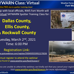 Dallas.Ellis.Rockwall.SKYWARN Flyer
