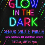 Glow in the Dark Senior Salute Parade Flyer