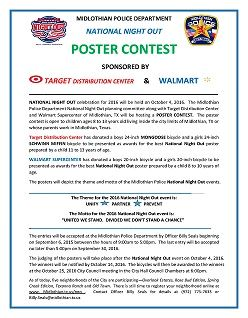 National Night Out Poster Contest Flyer
