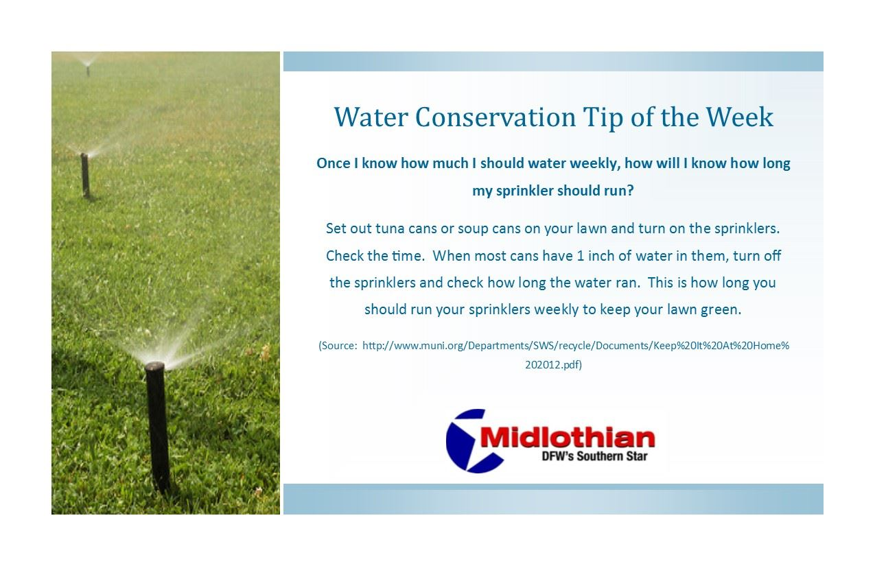 Water Conservation Tip - How long should sprinklers run
