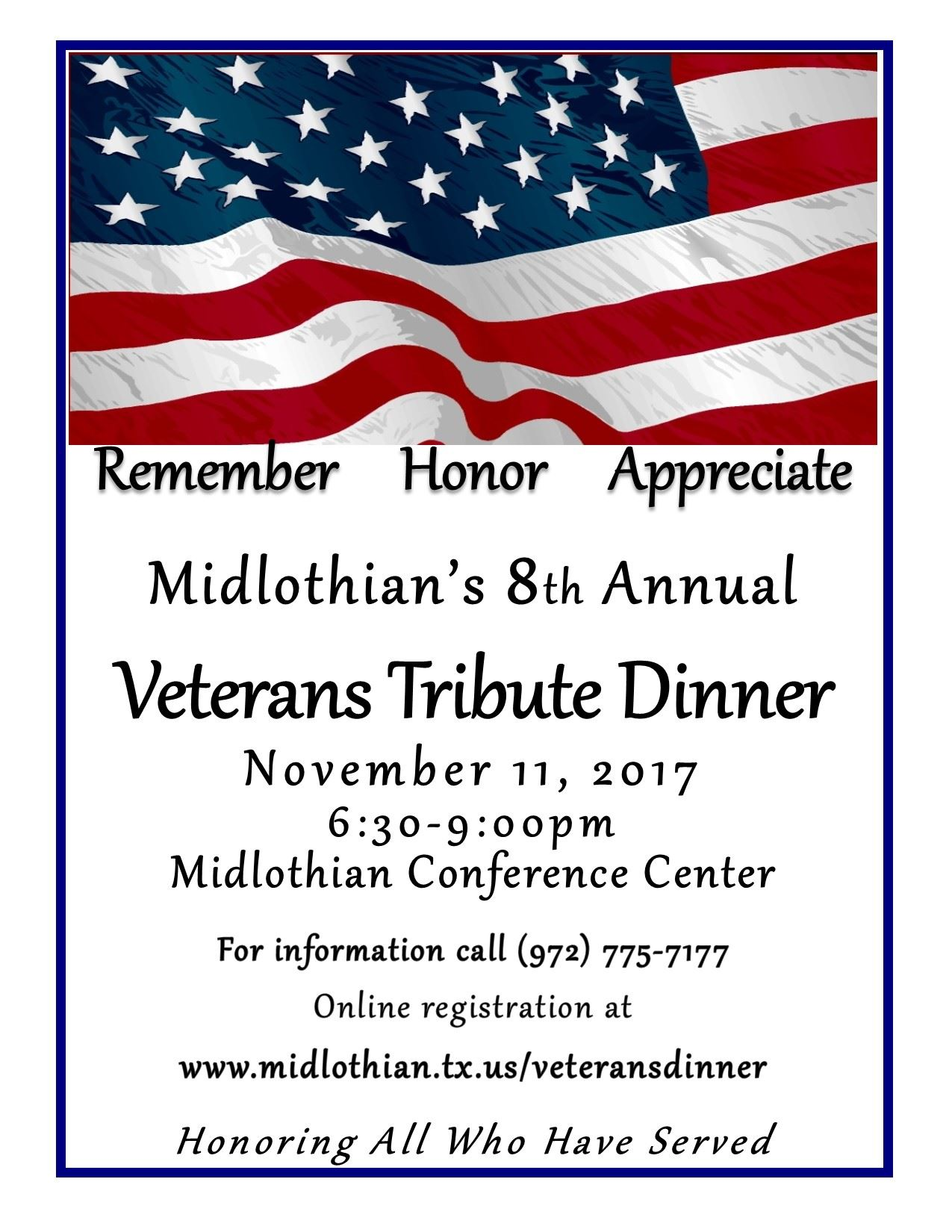 2017 VETERANS DINNER FLYER f