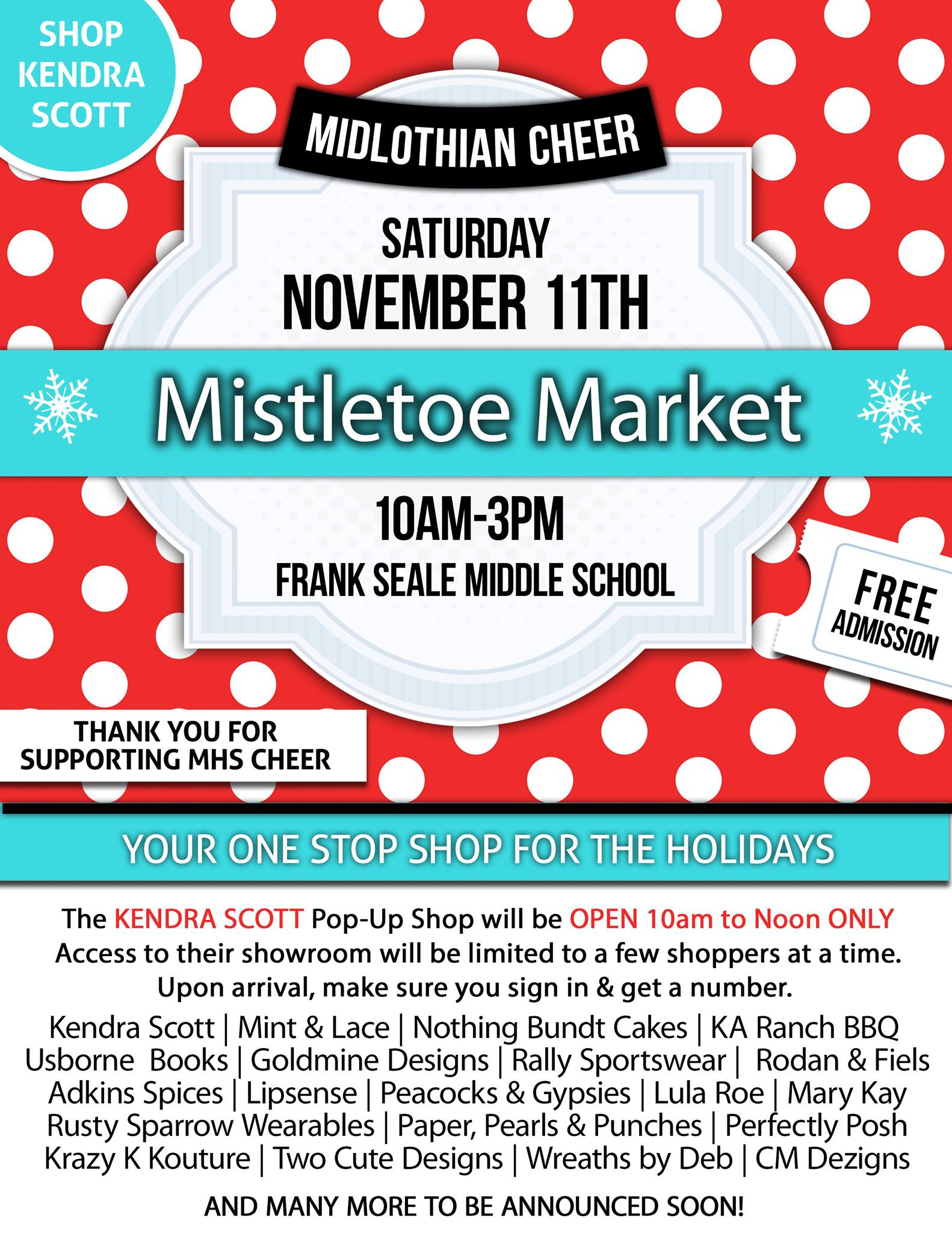 Mistletoe Market Flyer