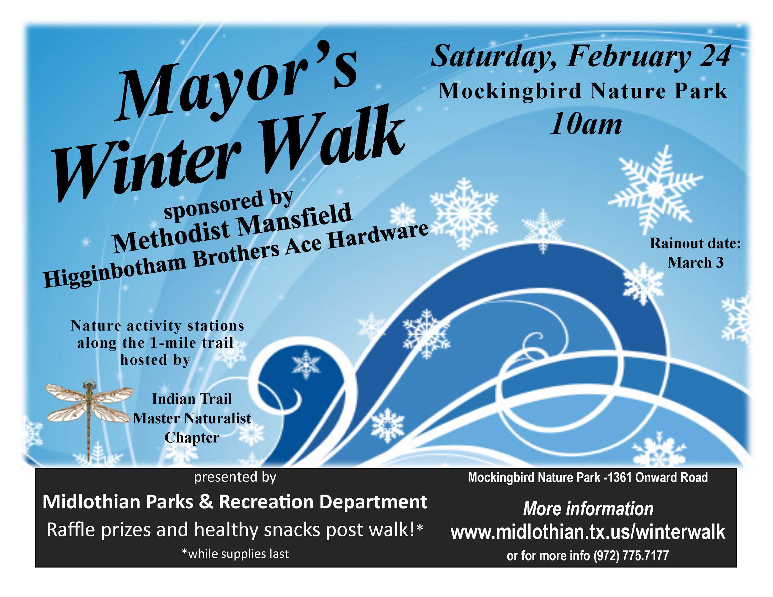 Mayor&#39s Winter Walk Flyer