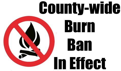 County wide burn ban