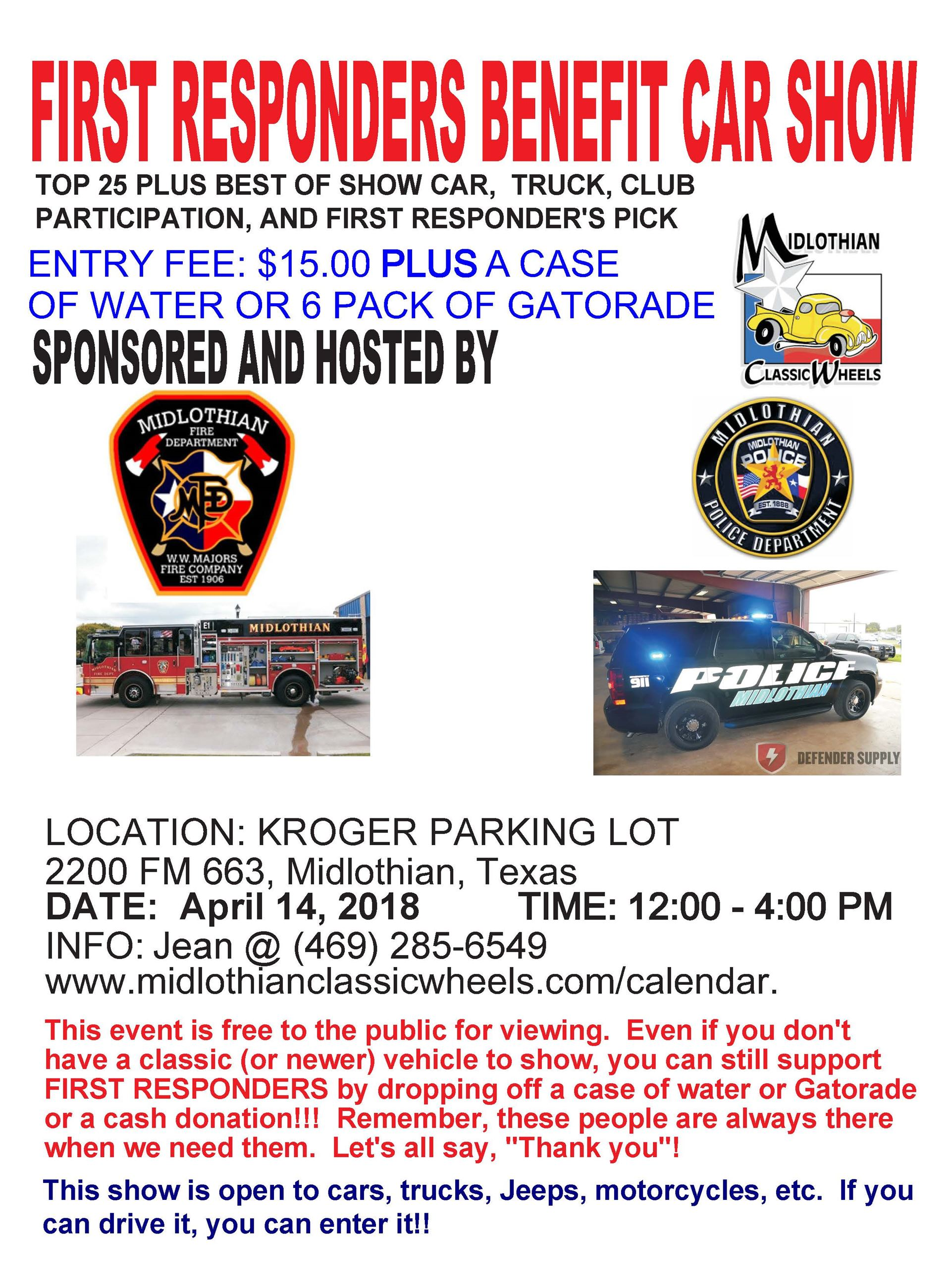 First Responders Car Show  Flyer