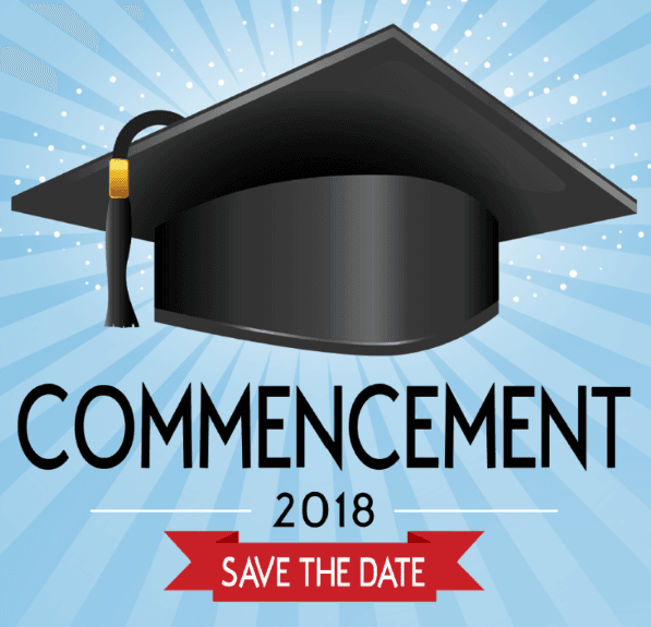 2018 Graduation save the date