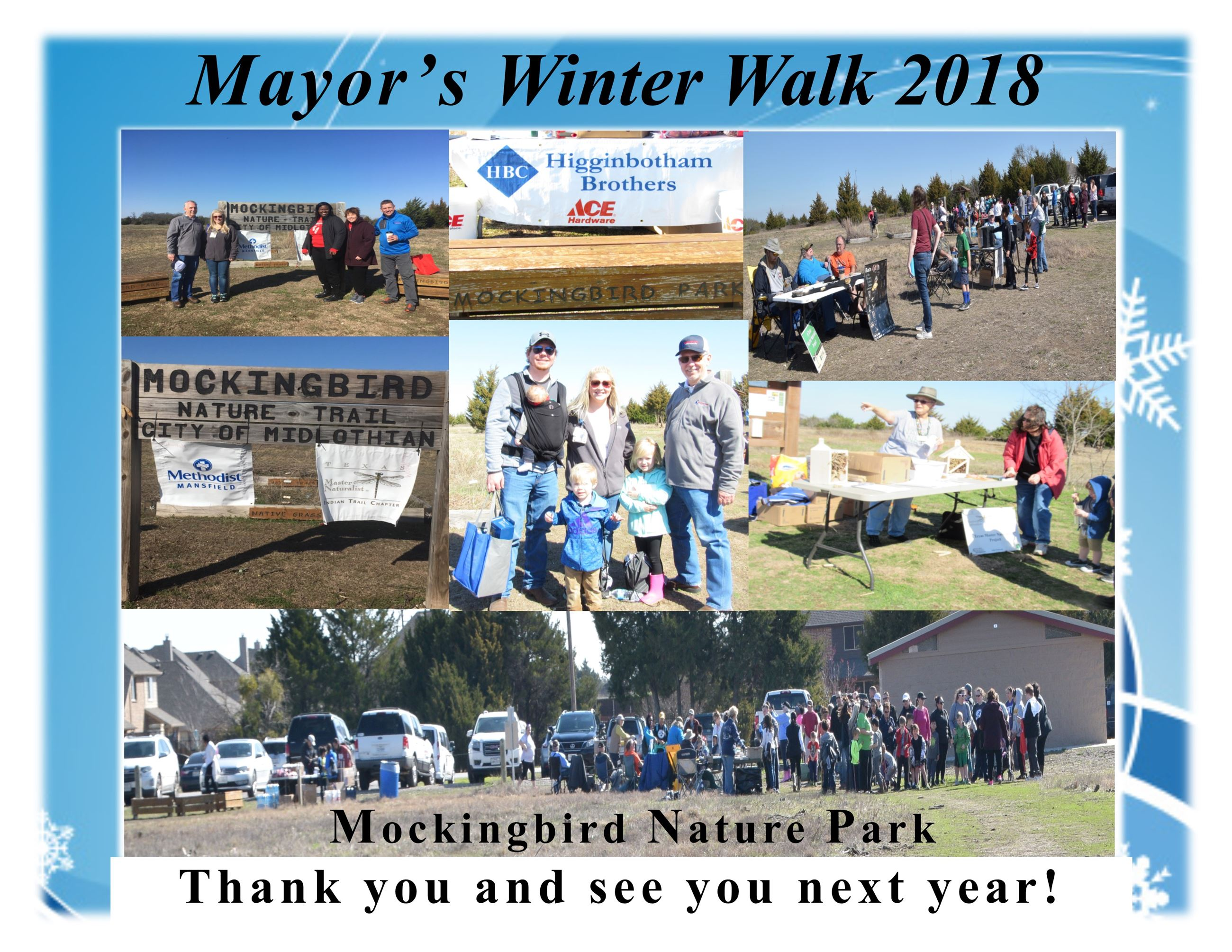Winter Walk 2018 thank you