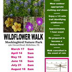 2018 Wildflower Walks flyer