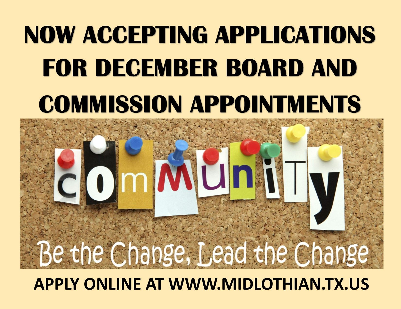 BOARDMEMBERS NEEDED