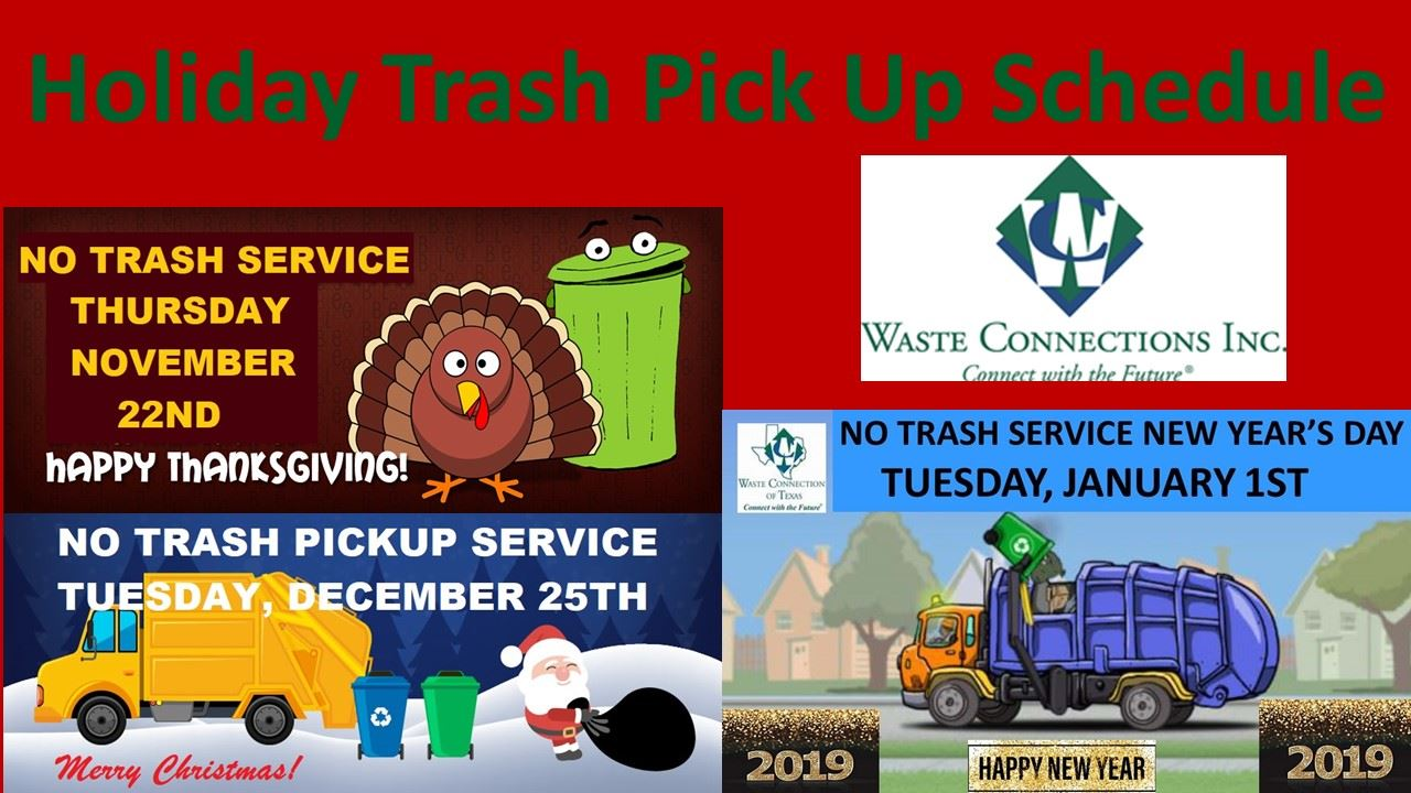 2018 Holiday Trash Schedule