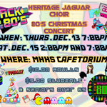 Jag Choir 80s Christmas Flyer