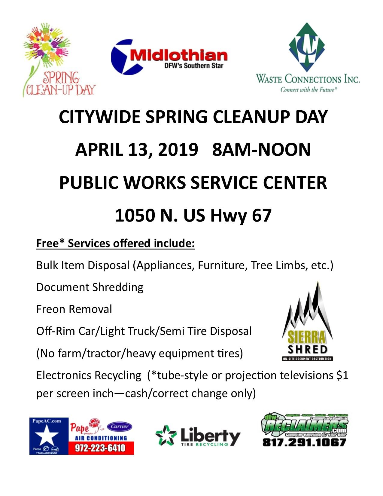 Spring Clean Up Day 2019