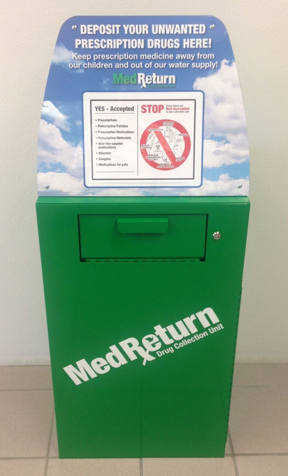 Med Return Drug Collection Box