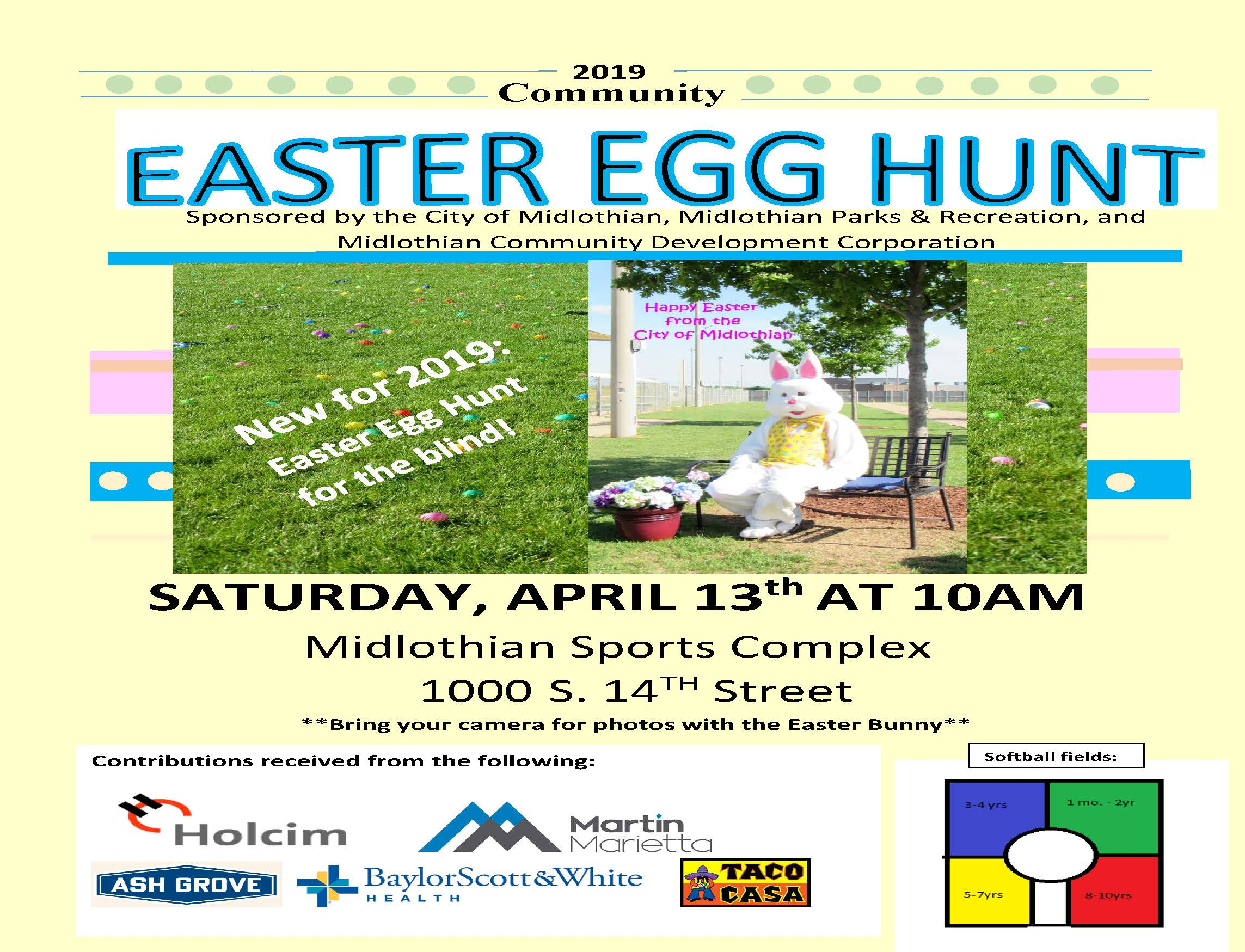 2019 Easter Egg Hunt Flyer