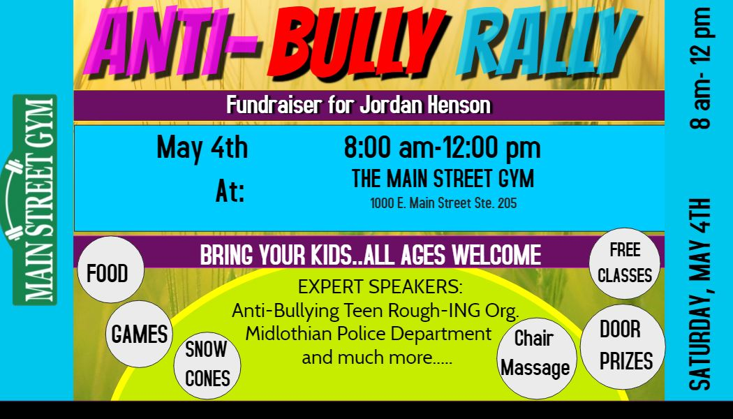 anti bully rally business card ad