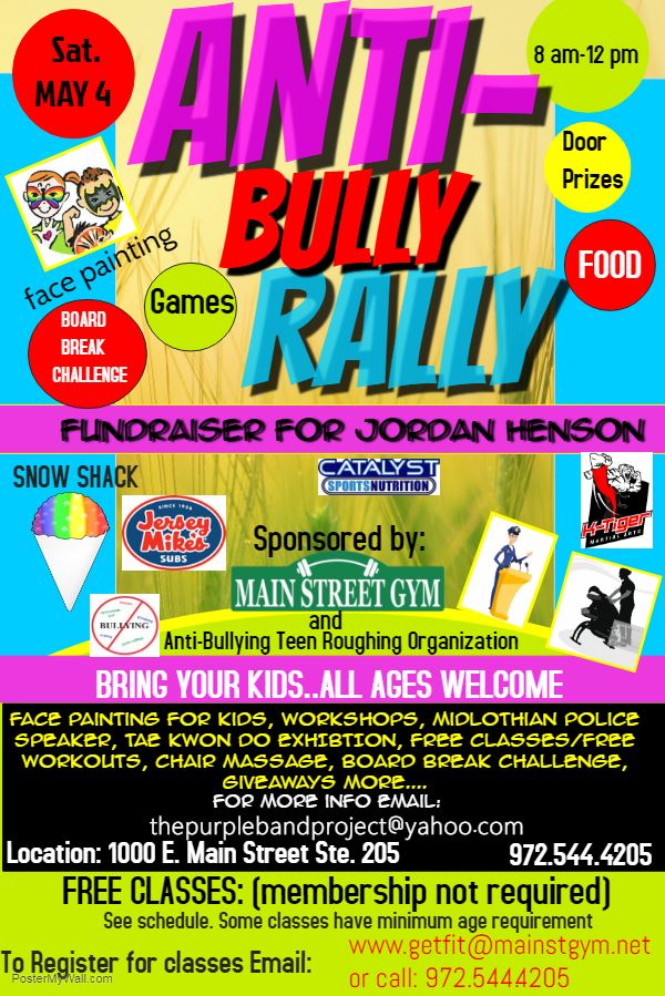 antibully rally poster 3-26