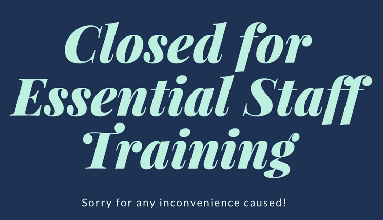 Closed-for-Essential-Staff-Training