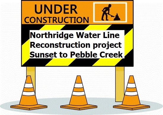 Water Line Reconstruction Sign