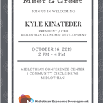 meet greet Kyle Kinateder - Midlothian Economic Development CEO