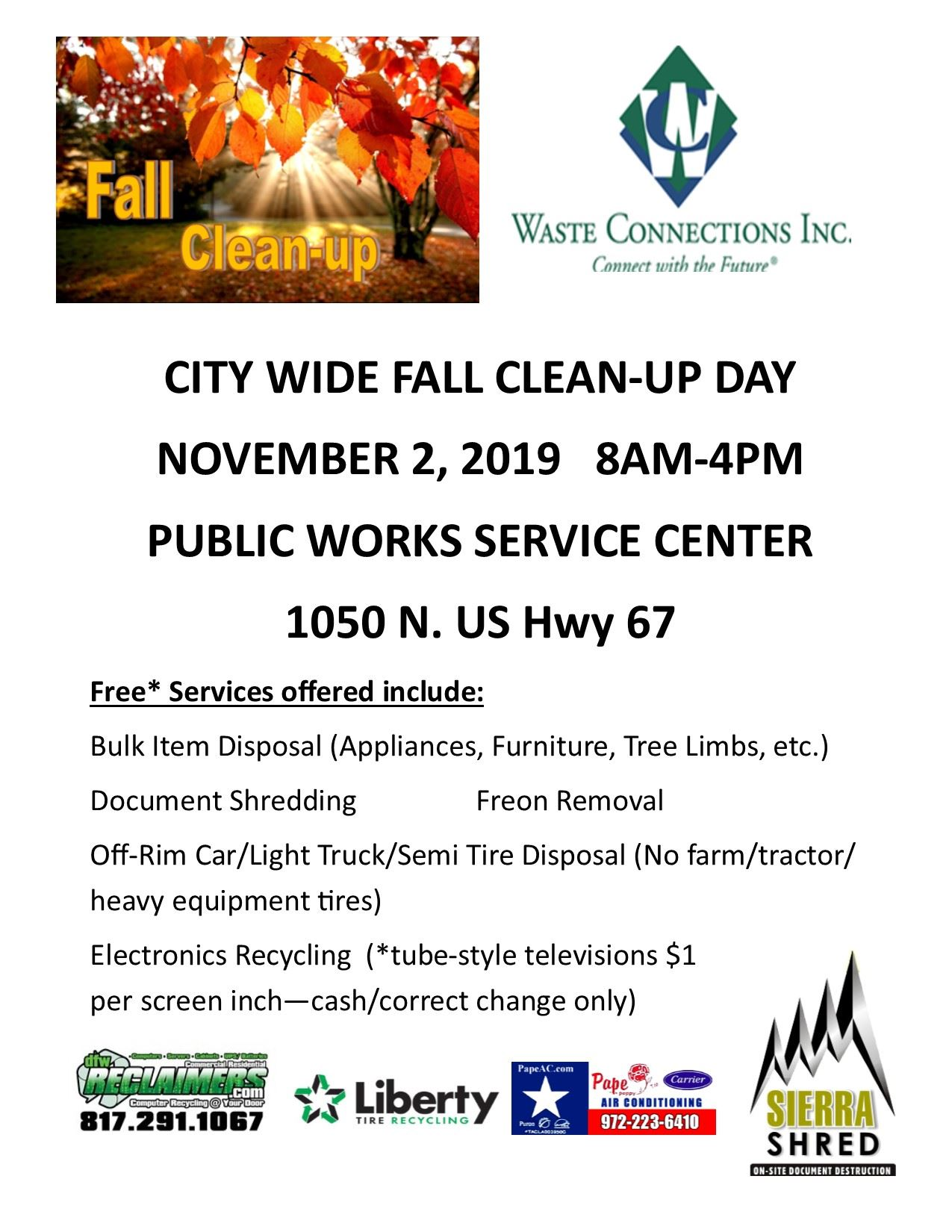 Fall Clean Up Day 2019 REV