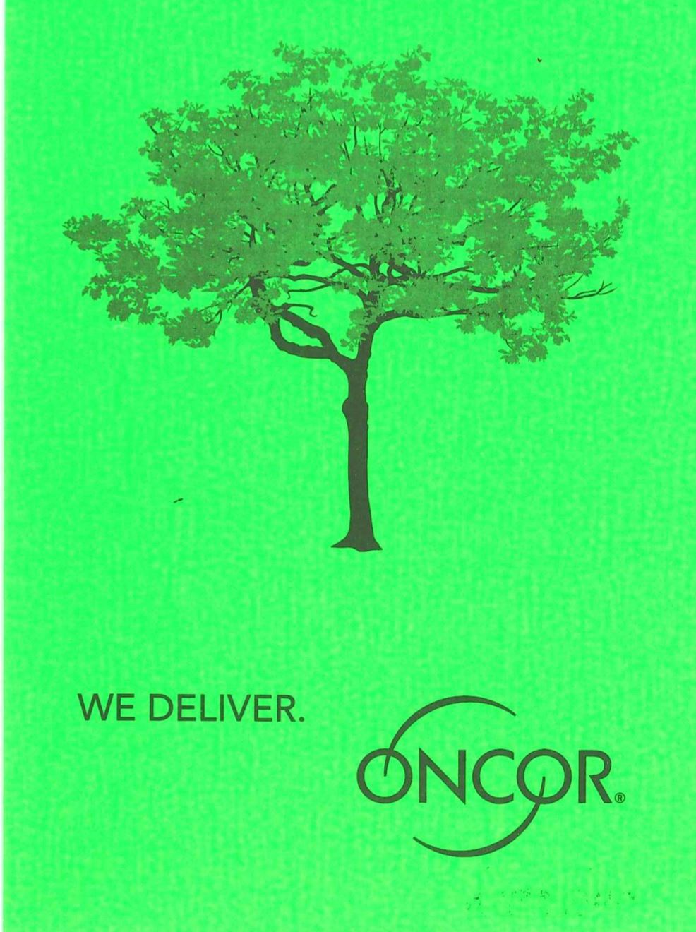 Oncor Tree Trimming Door Hanger