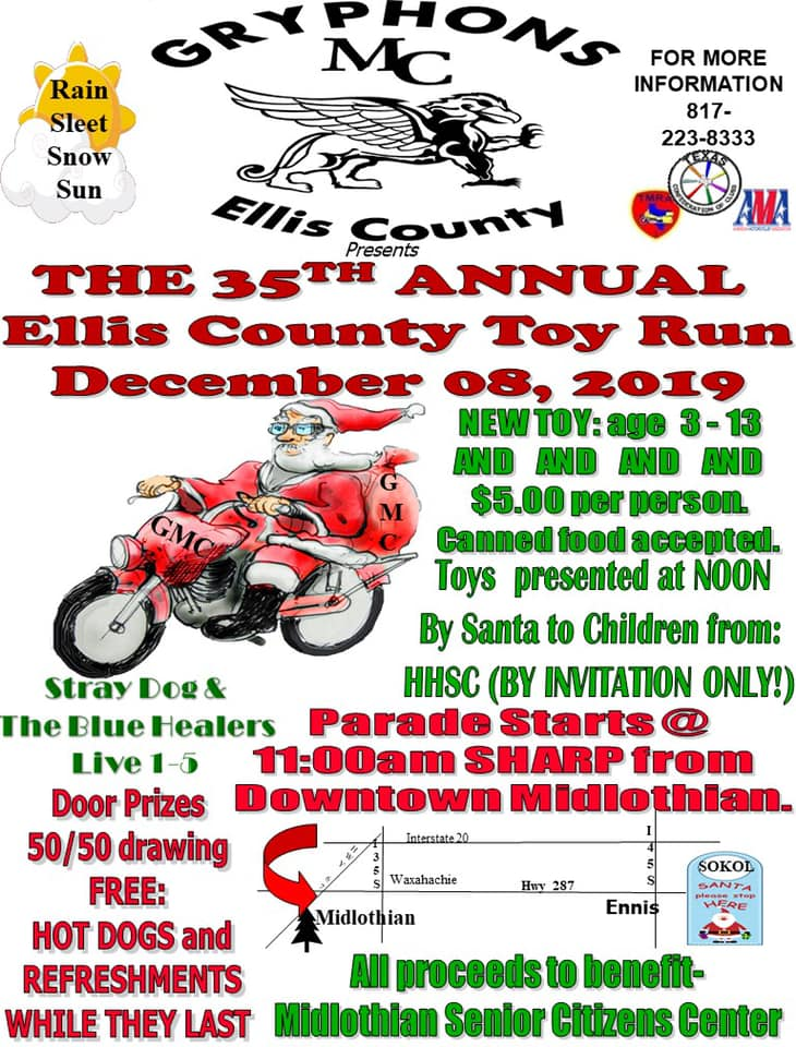 Ellis County Toy Run Flyer