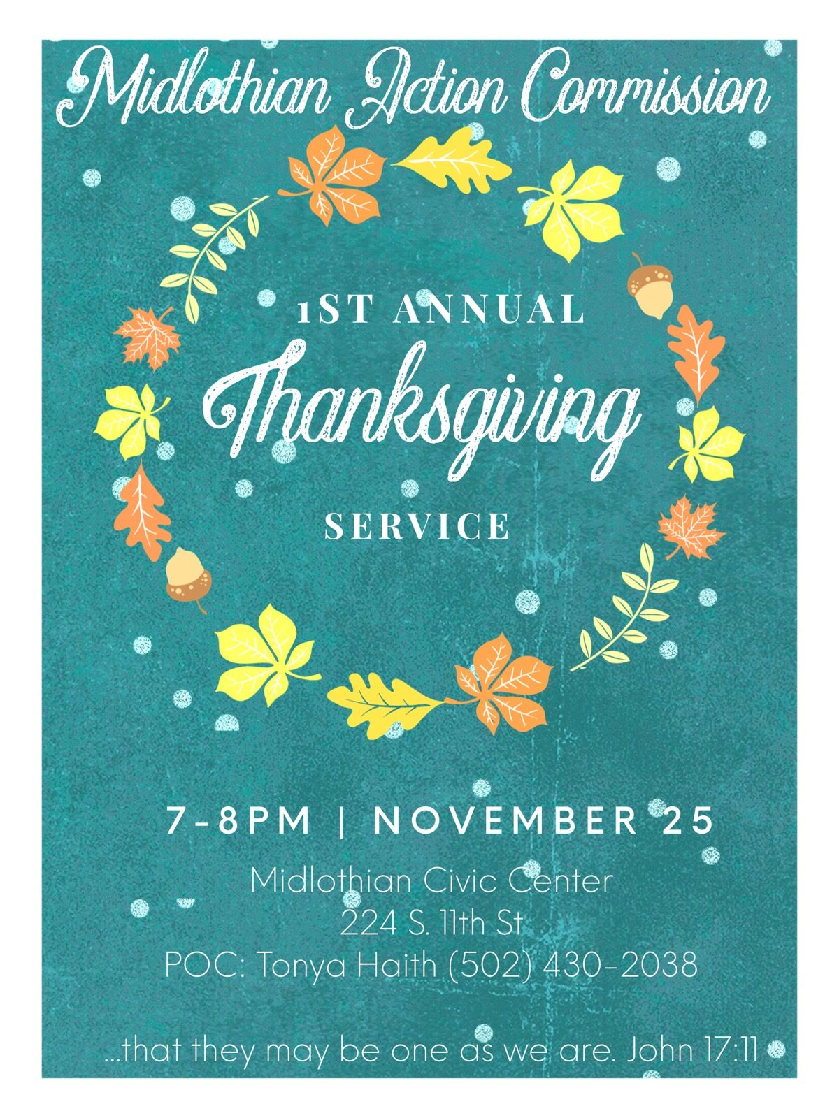 MAC Thanksgiving Service Flyer