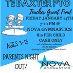 Baxter PTO Nova Spirit Night Flyer