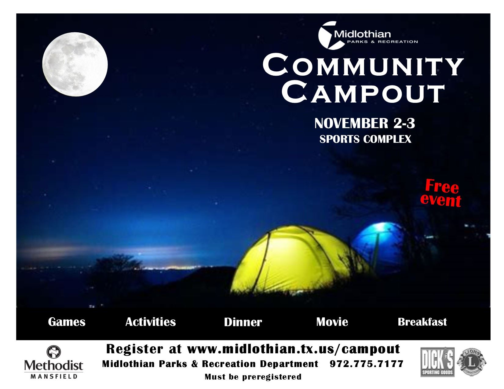 CCampout 2018 flyer