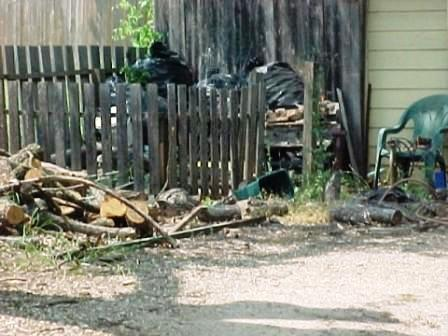 Debris in resident's yard